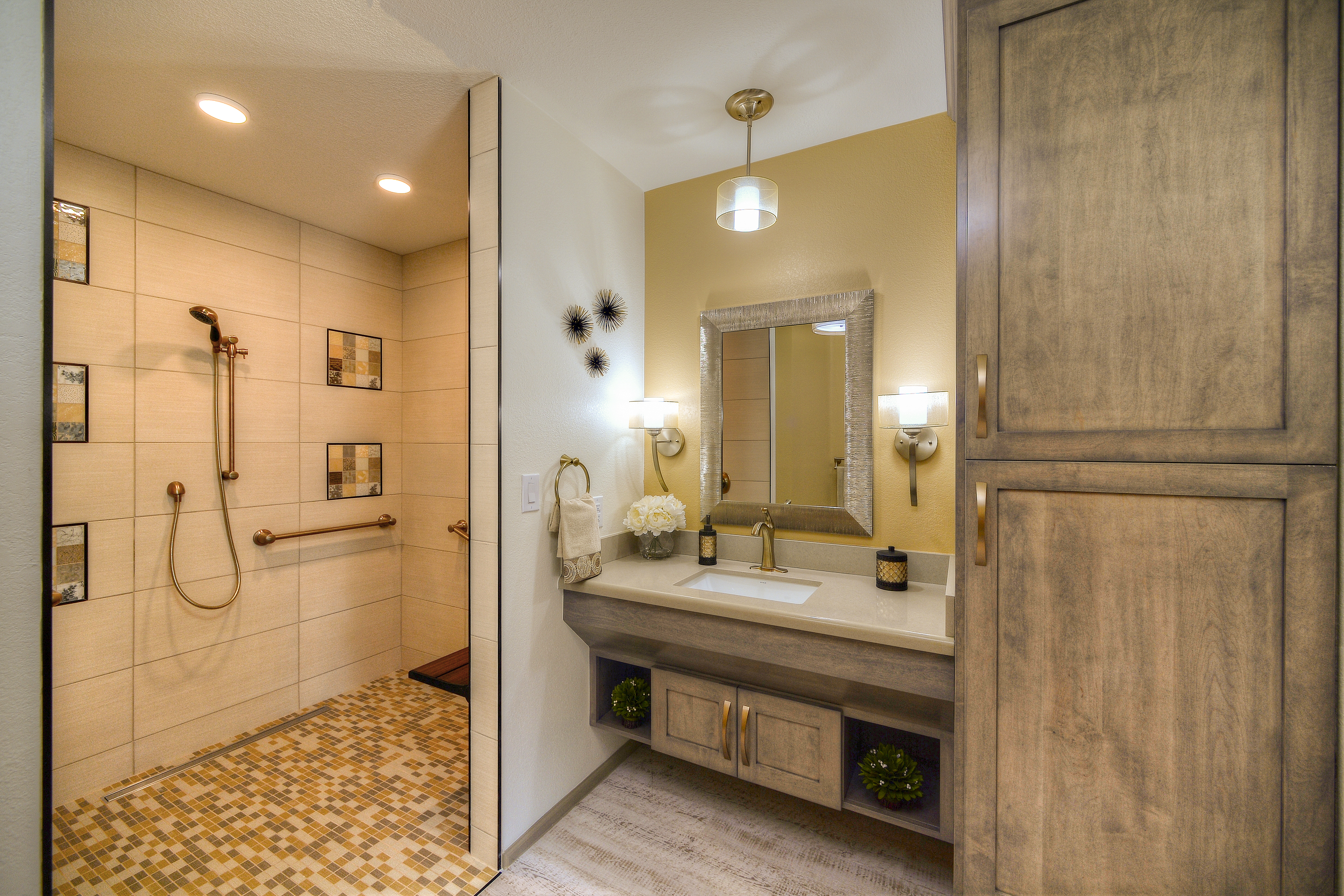 Scottsdale Aging In Place Remodel Dementia Supportive Design For Homeowner Sister In Law  Tlc Interior Design